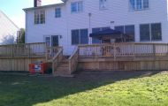 Two Level Pressure Treated Deck